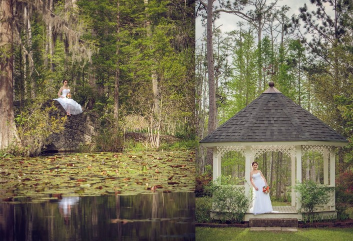 Bridal Portraits at Cypress Gardens