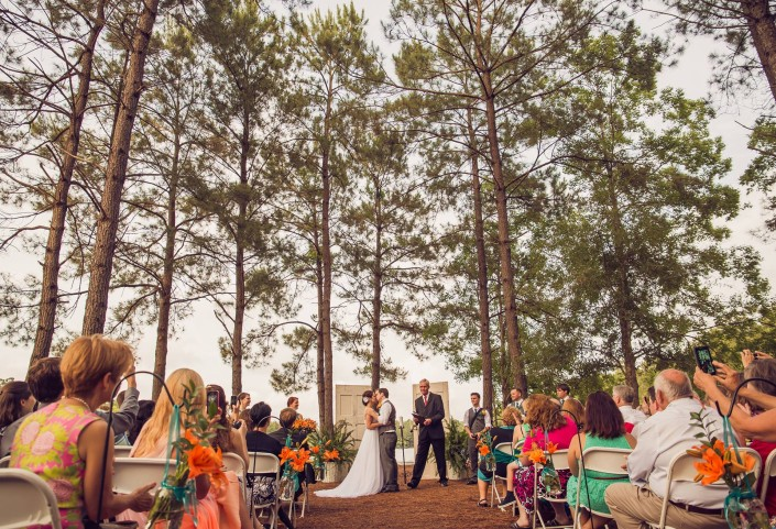 Wedding Ceremony at the Lake House at Bulow