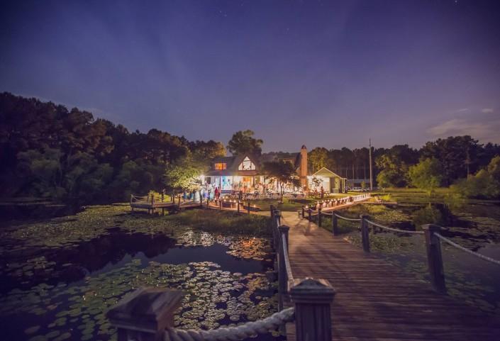 Nightime at the Lake House at Bulow