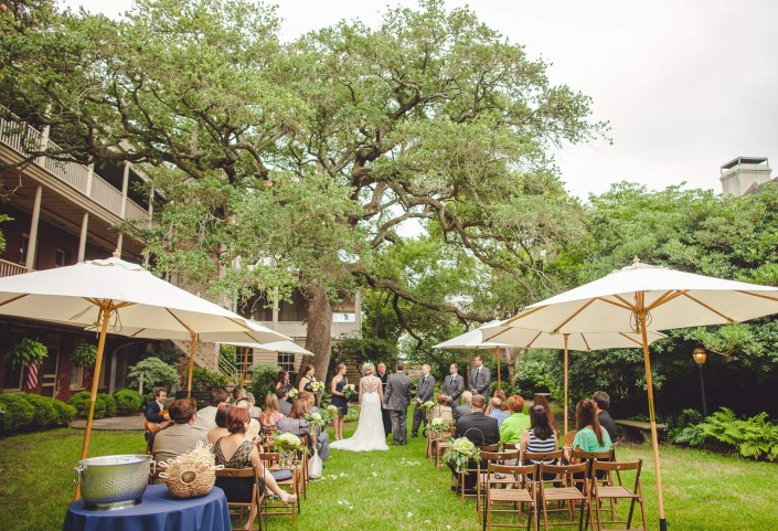 Wedding under the oak at the Confederate Home