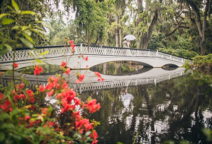 Magnolia Plantation White Bridge Lawn Ceremony