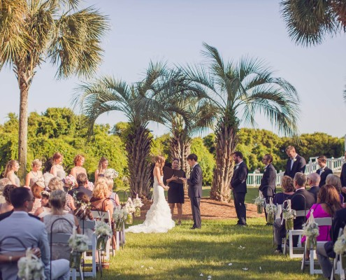 Wild Dunes Croquet Lawn Wedding