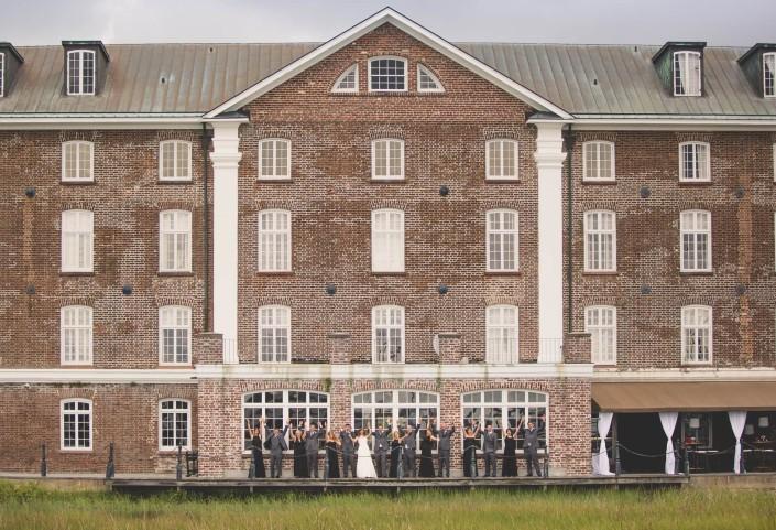 Summer Rice Mill Building Wedding