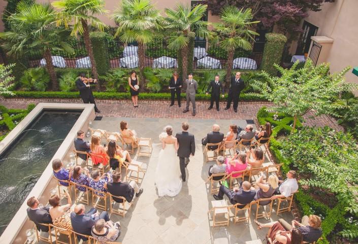 Planters Inn Wedding Ceremony