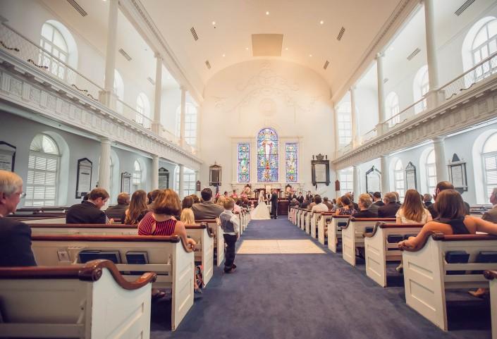Wedding inside Second Presbyterian