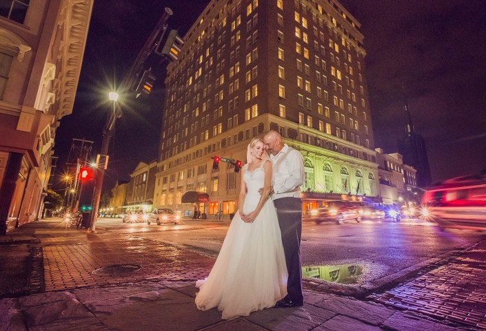 Bride and Groom at King and Calhoun Streets