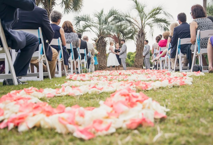 Croquet Lawn Wild Dunes Wedding Ceremony