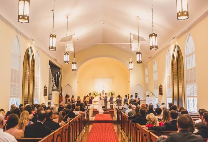 St. Andrews Historic Church Wedding Ceremony