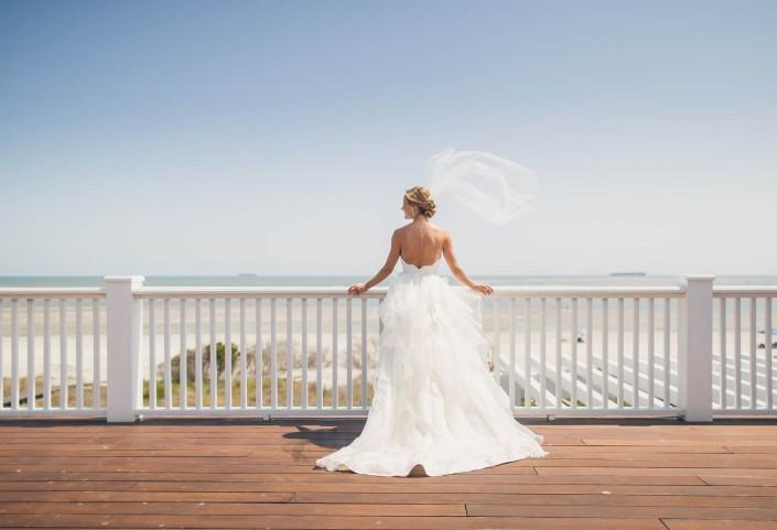 Windy day Bridal on Isle of Palms