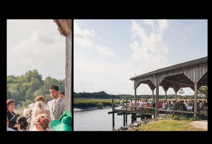 Cotton Dock Wedding Ceremony at Boone Hall