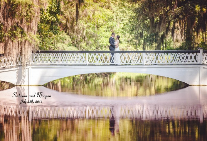 Richard Bell Photography Magnolia Wedding on white bridge
