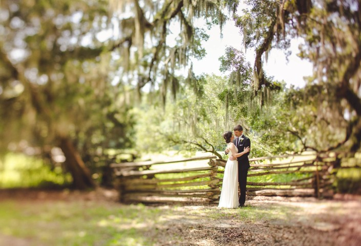 Beautiful Magnolia Plantation Wedding Farm Fence
