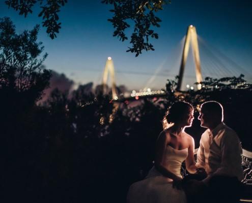 Harborside East Night Shot Cooper River Bridge