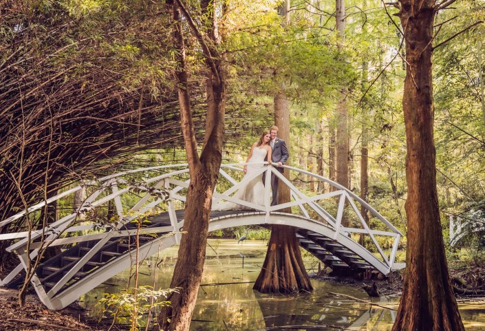 Bamboo Forrest in Magnolia Plantation Wedding