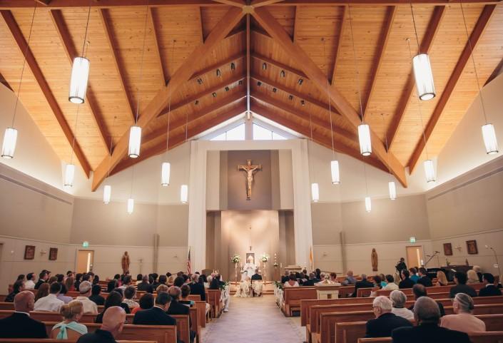 Wedding Ceremony at St. Benedict Catholic Church