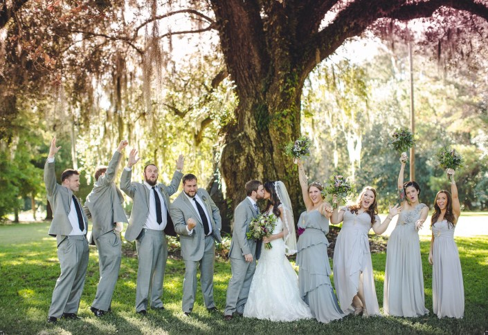 Bridal Party at Magnolia Carriage House
