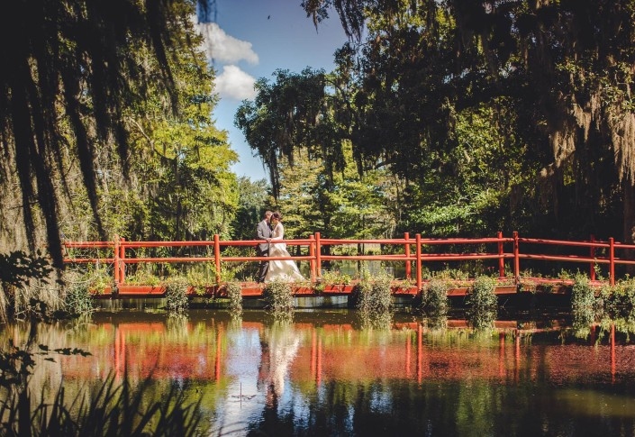 Magnolia Plantation, Red Bridge, Charleston Wedding