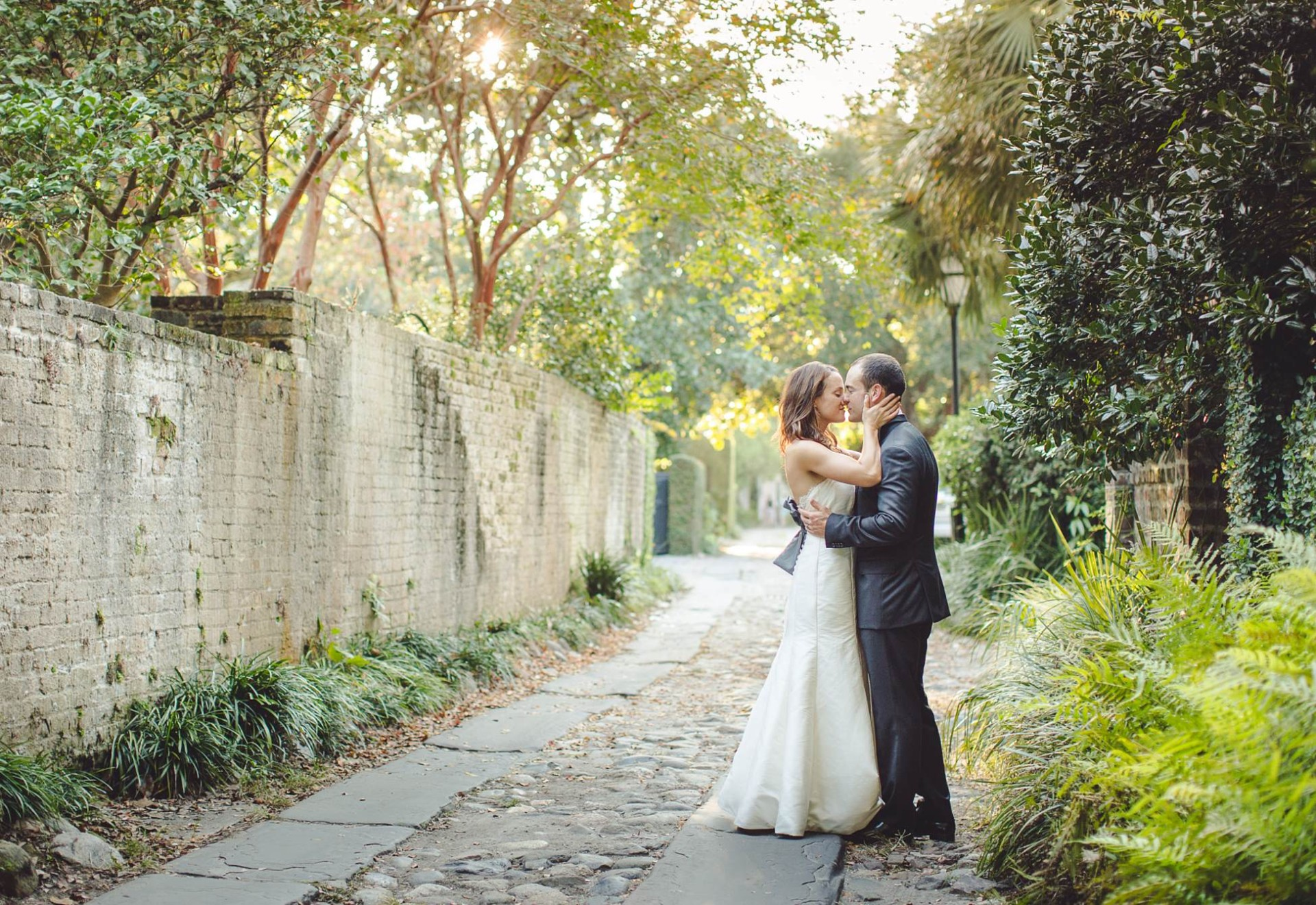 White point garden wedding