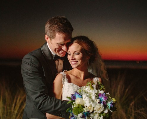 Alhambra Hall Sunset Wedding Couple