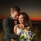Alhambra Hall Sunset Wedding Couple