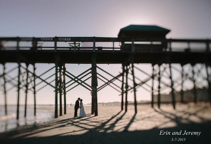 Folly Beach Pier Wedding