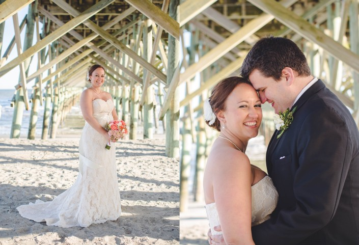 Folly Beach Pier Bride and Groom