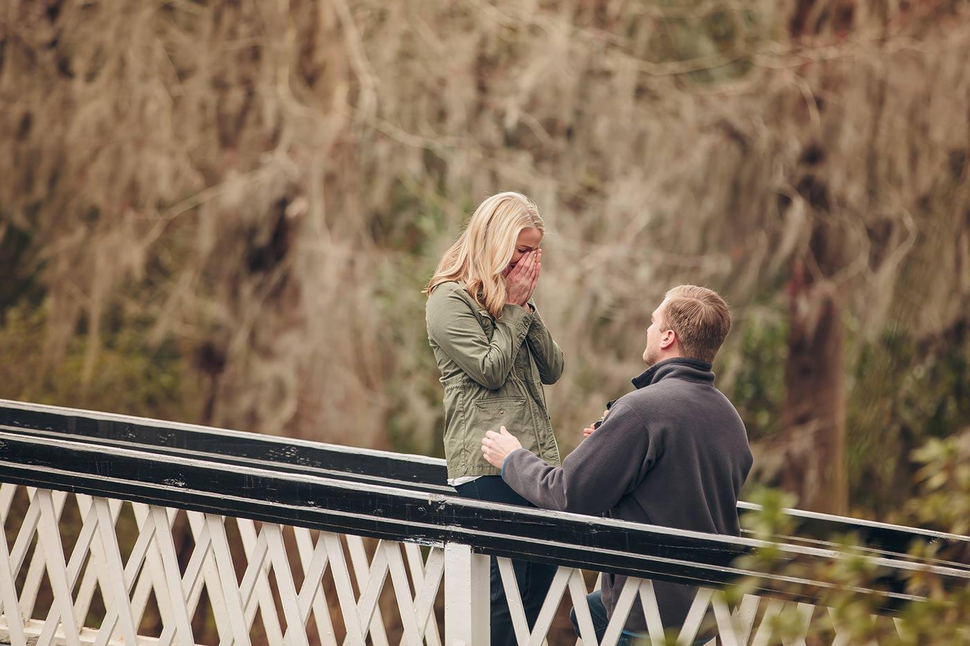 proposal at Magnolia Plantation