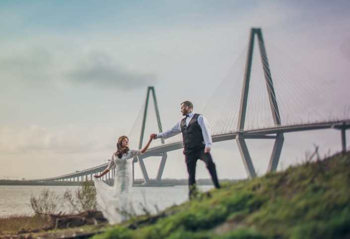 Charleston Wedding Cooper Bridge