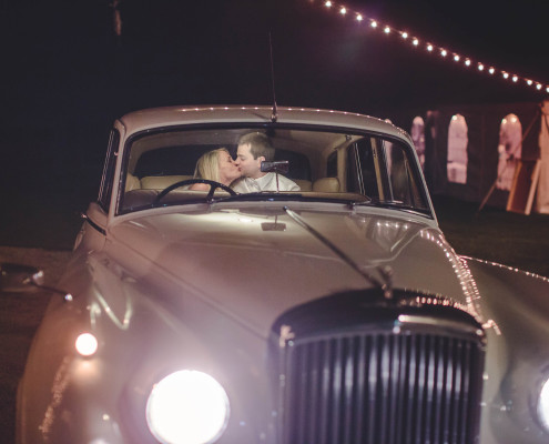Classic cars and the bride and groom