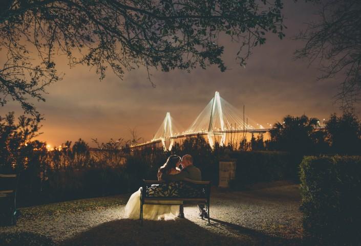 cooper bridge at night