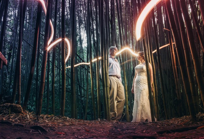 bamboo light painting