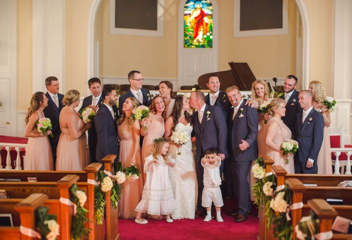Bridal Party inside Church