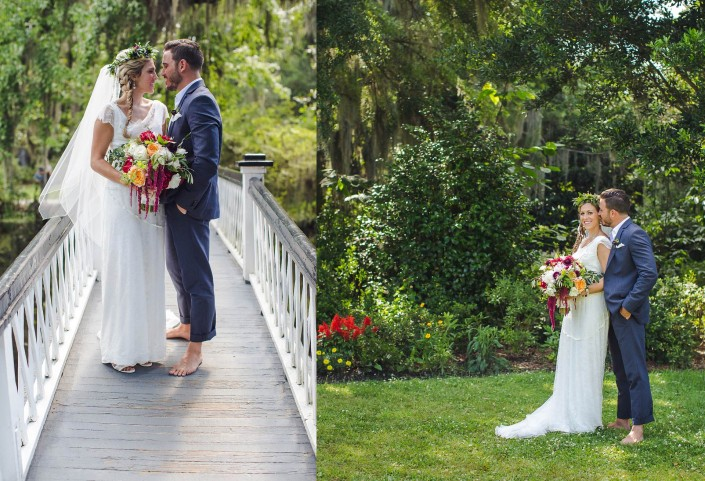 Magnolia White Bridge Bride and Groom Wedding