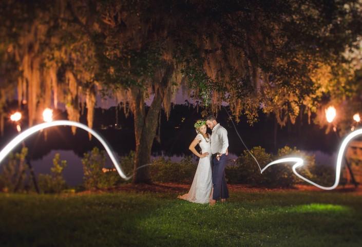 Bride and Groom Wedding Night portrait