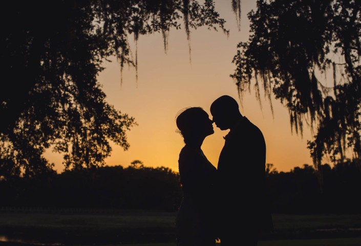 charleston wedding sunset