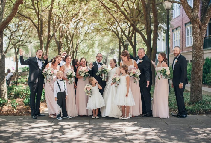 Downtown Charleston Bridal Party