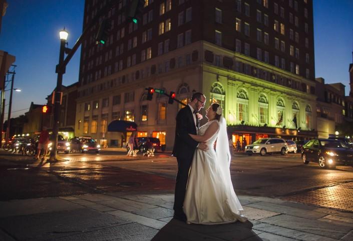 Wedding Portrait night shot Francis Marion