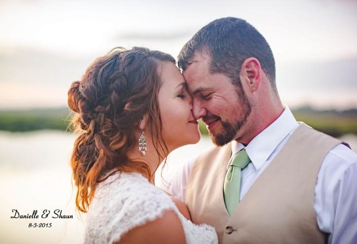River Marsh bride and groom portrait