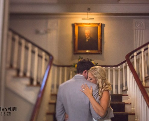 Hibernian Hall Foyer Wedding Portrait