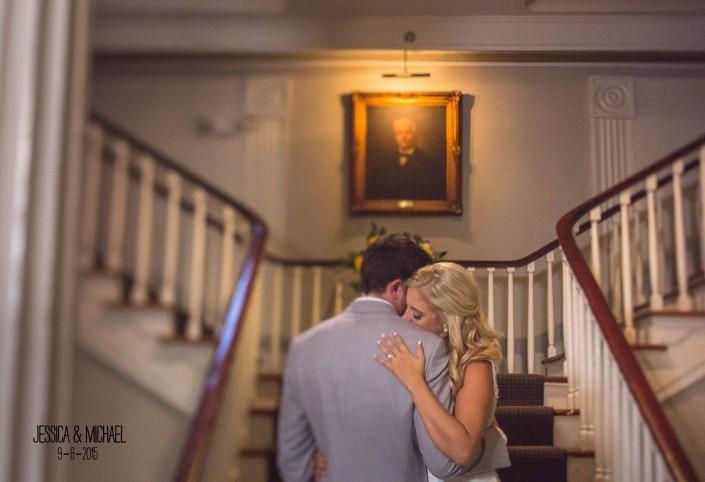 Hibernian Hall Foyer Wedding Portrait