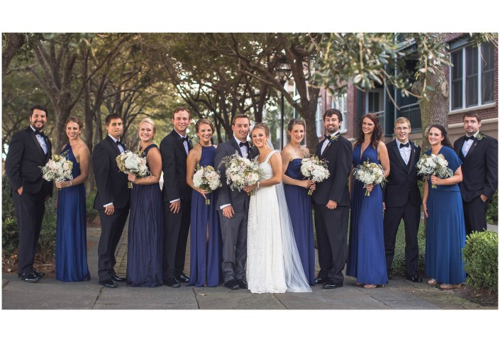 Bridal Party Downtown Charleston