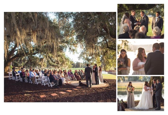Wedding under the oaks