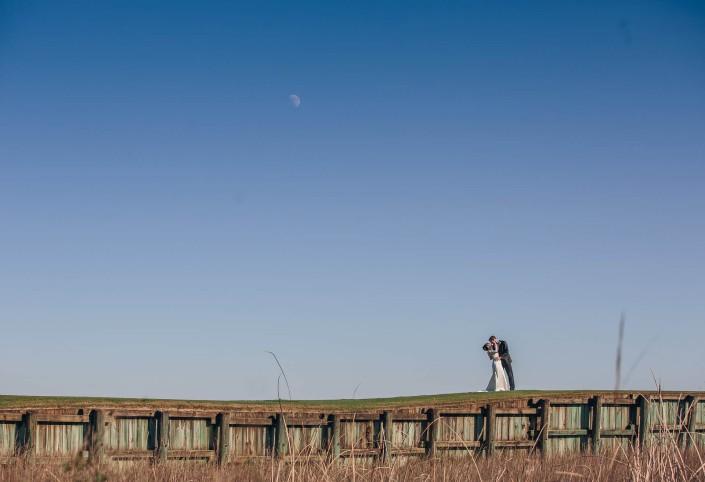 Pawleys Plantation Wedding - Bride & Groom Outside