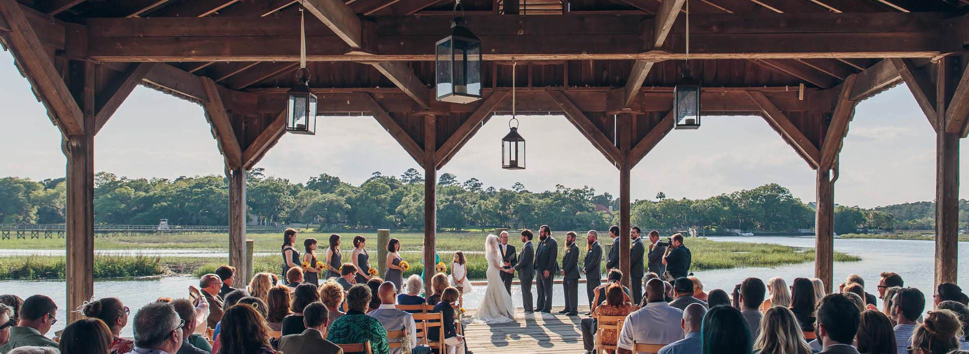 Ceremony at Boone Hall Plantation Cotton Dock