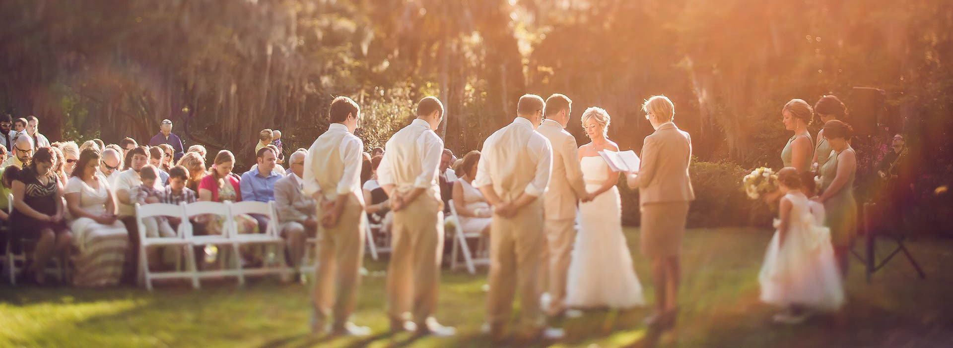 Ceremony at Magnolia Plantation and Gardens