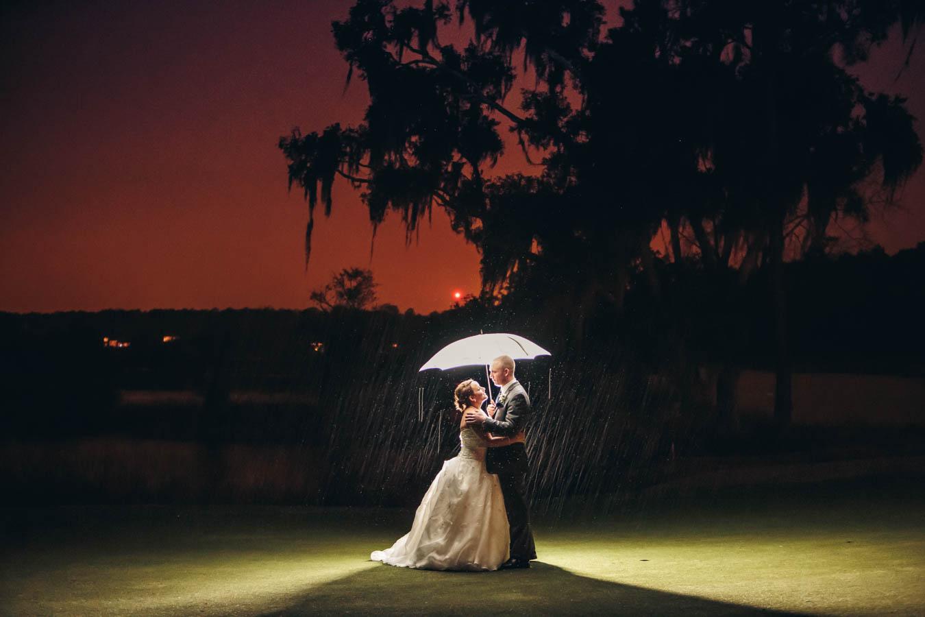 Dunes West Wedding Rainy Day
