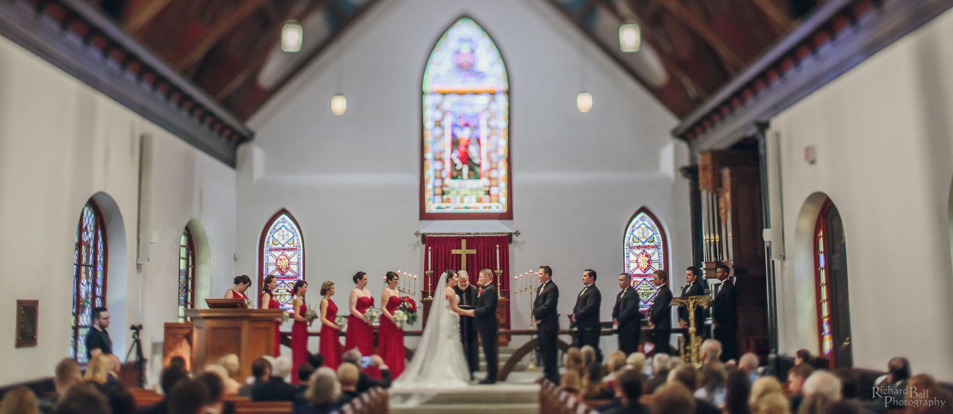 Ceremony Photo at St Lukes Chapel Andrea and Josh