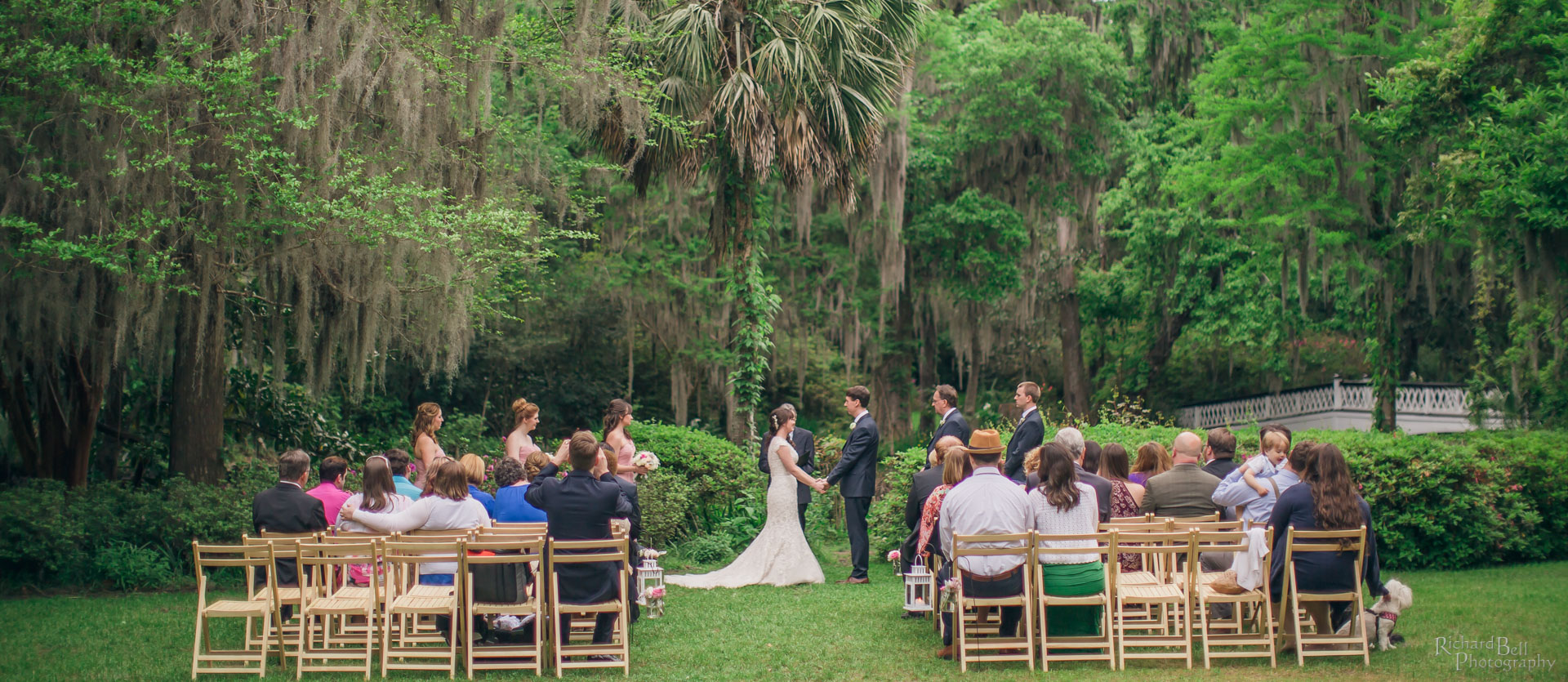 Bride and Groom Ceremony at Magnolia