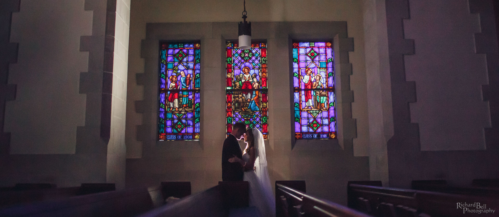 Bride and Groom by Summerall Stained Glass