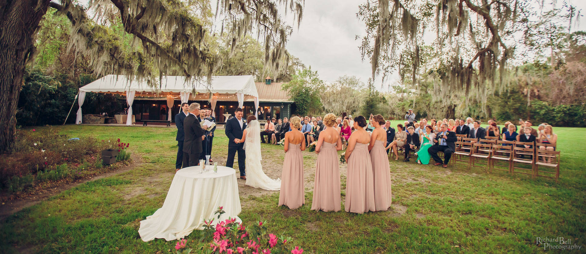 Ferraro ceremony at Magnolia Plantation